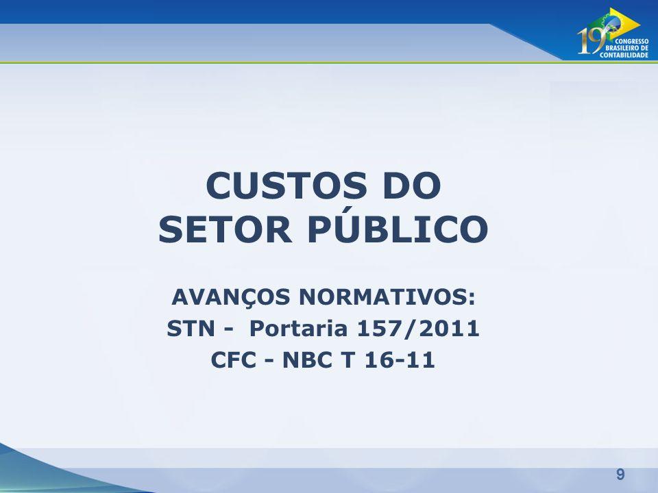 CUSTOS DO SETOR PÚBLICO