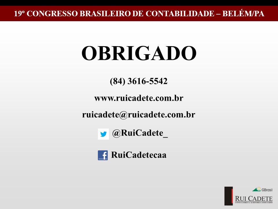 19º CONGRESSO BRASILEIRO DE CONTABILIDADE – BELÉM/PA