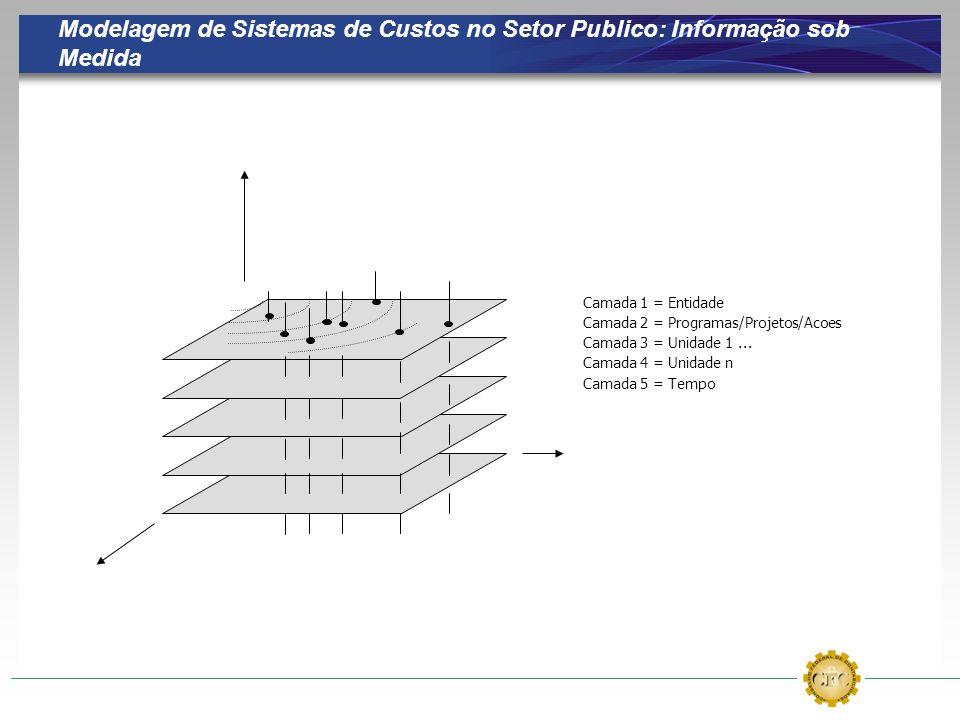 Modelagem de Sistemas de Custos no Setor Publico: Informação sob Medida