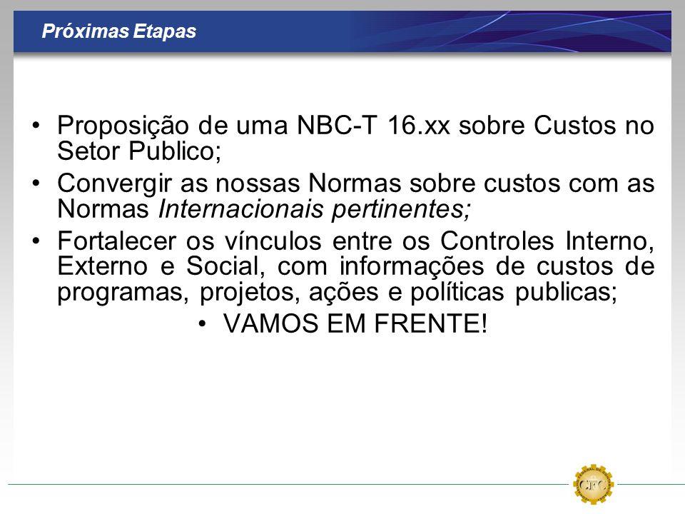 Proposição de uma NBC-T 16.xx sobre Custos no Setor Publico;