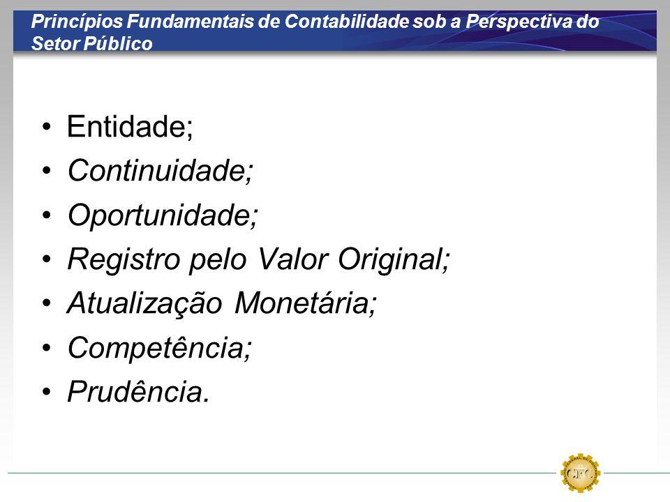 Registro pelo Valor Original; Atualização Monetária;