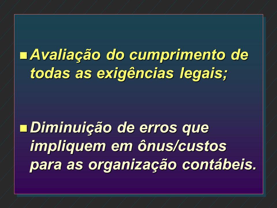 Avaliação do cumprimento de todas as exigências legais;