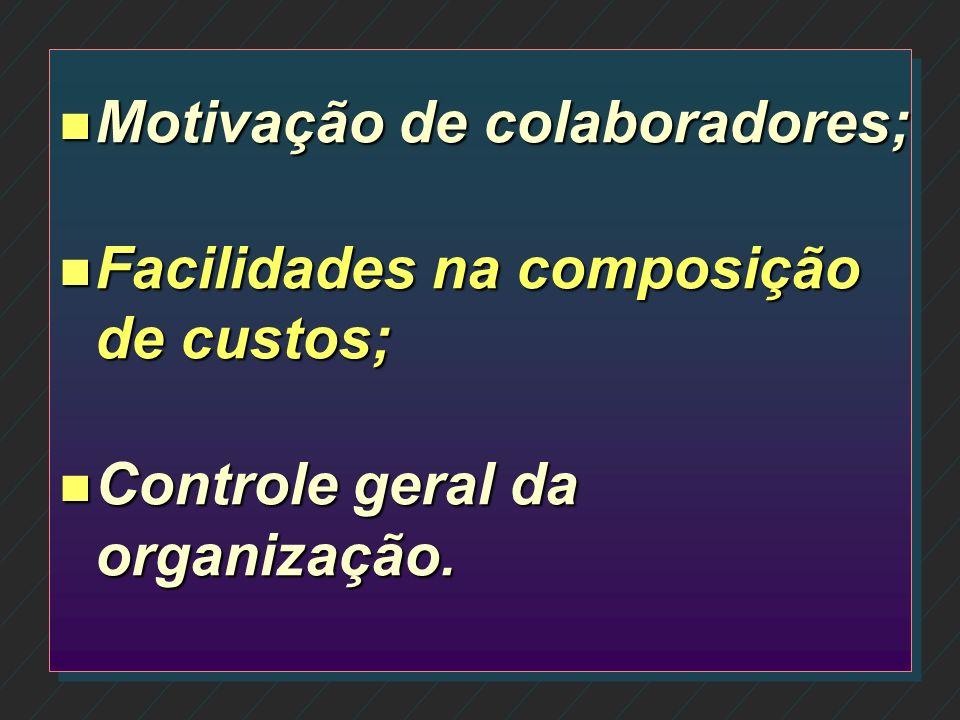 Motivação de colaboradores;