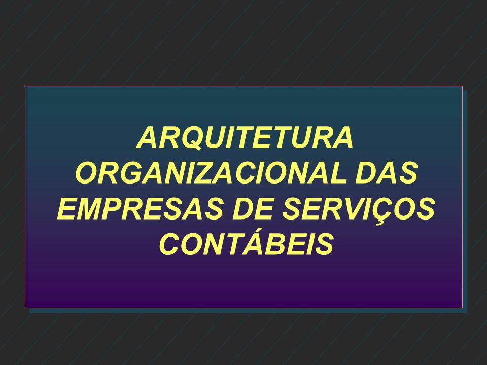 ARQUITETURA ORGANIZACIONAL DAS EMPRESAS DE SERVIÇOS CONTÁBEIS