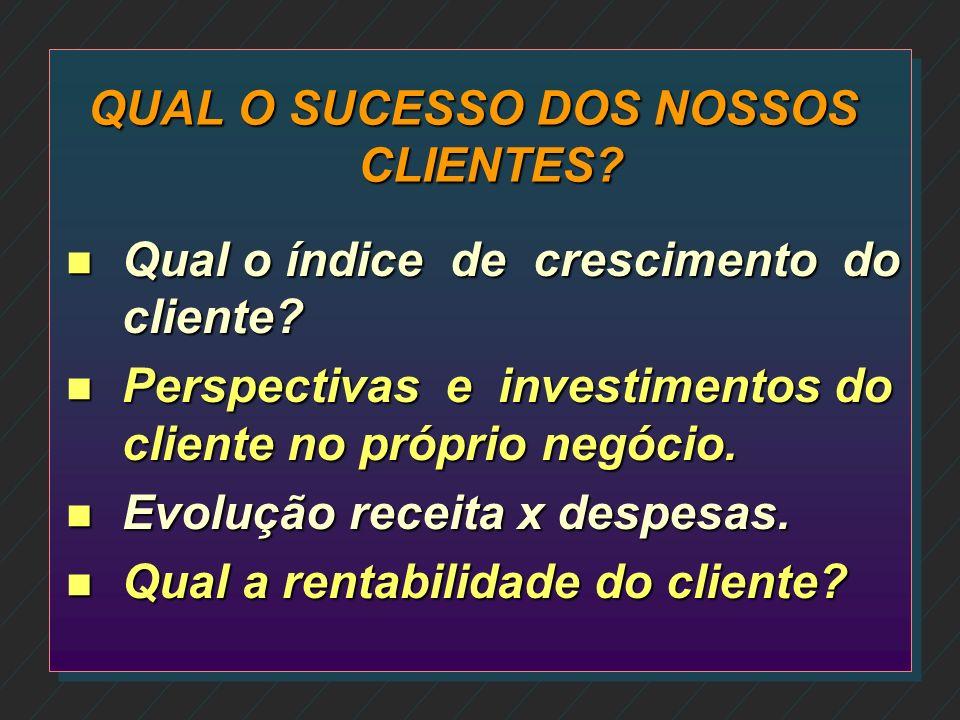 QUAL O SUCESSO DOS NOSSOS CLIENTES