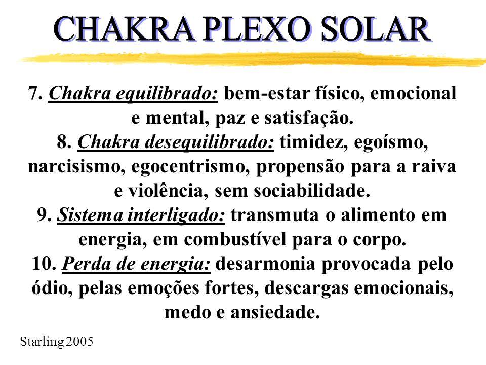CHAKRA PLEXO SOLAR 7. Chakra equilibrado: bem-estar físico, emocional e mental, paz e satisfação.