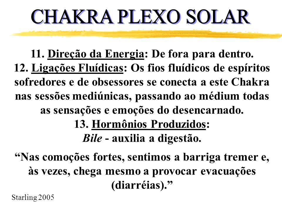 CHAKRA PLEXO SOLAR 11. Direção da Energia: De fora para dentro.