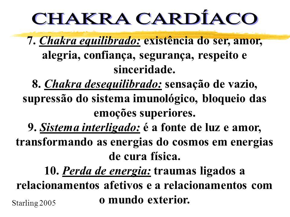CHAKRA CARDÍACO 7. Chakra equilibrado: existência do ser, amor, alegria, confiança, segurança, respeito e sinceridade.