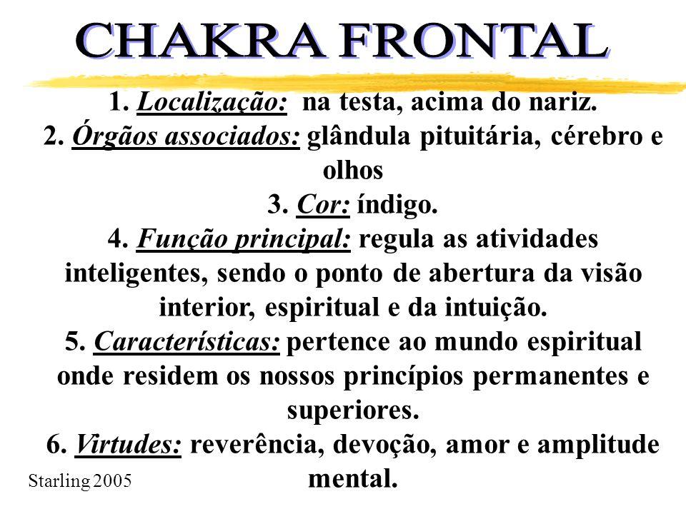 CHAKRA FRONTAL 1. Localização: na testa, acima do nariz.