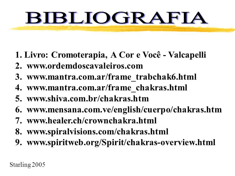 BIBLIOGRAFIA 1. Livro: Cromoterapia, A Cor e Você - Valcapelli