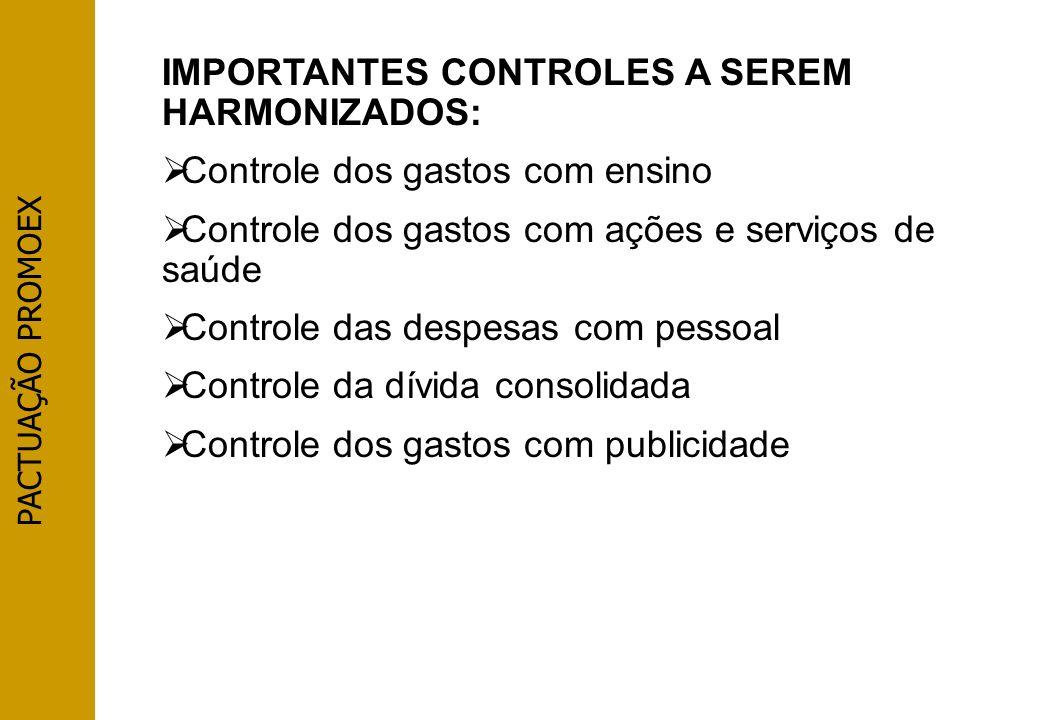 IMPORTANTES CONTROLES A SEREM HARMONIZADOS: