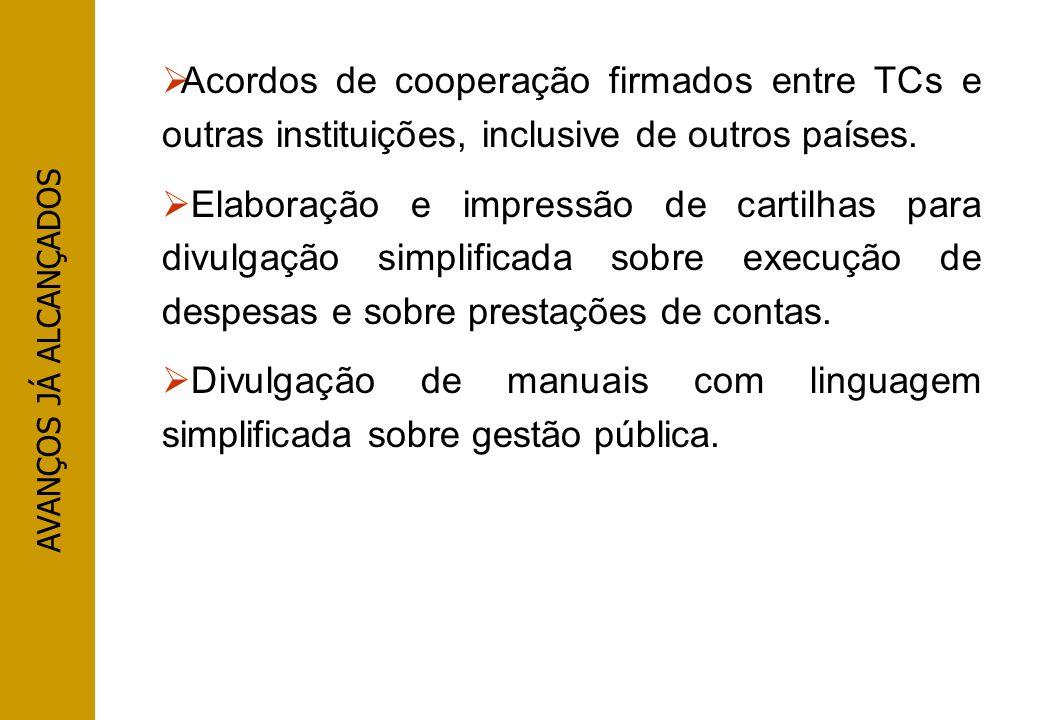 Divulgação de manuais com linguagem simplificada sobre gestão pública.