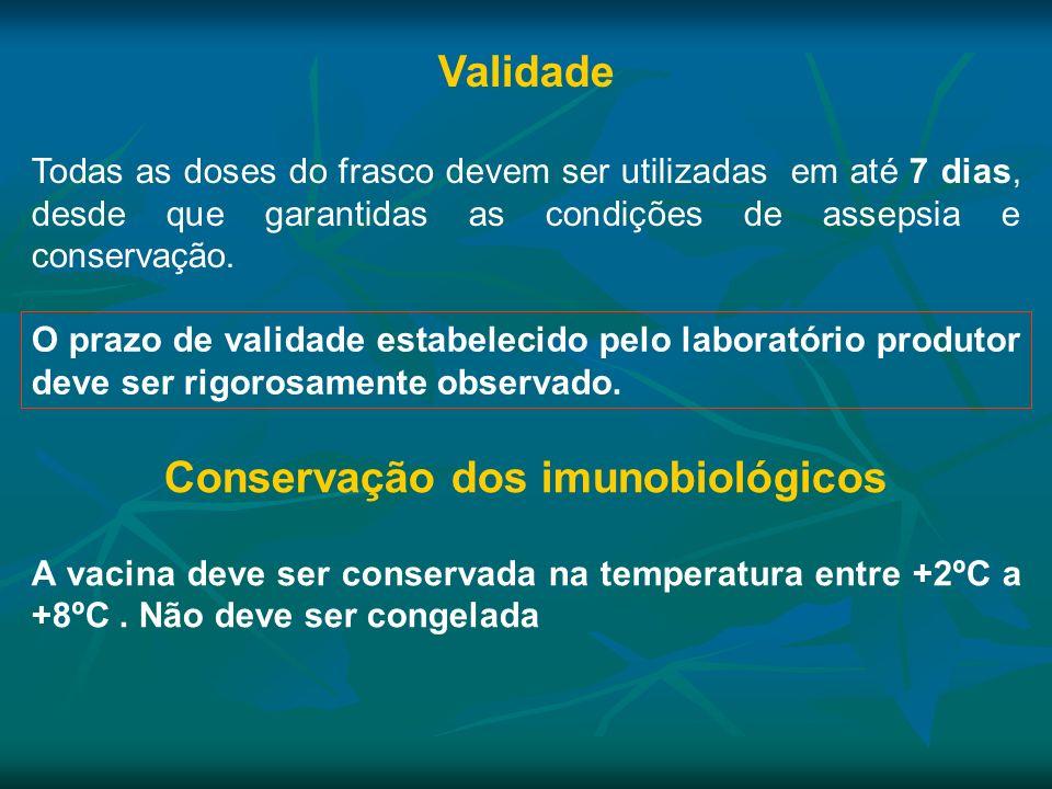 Conservação dos imunobiológicos