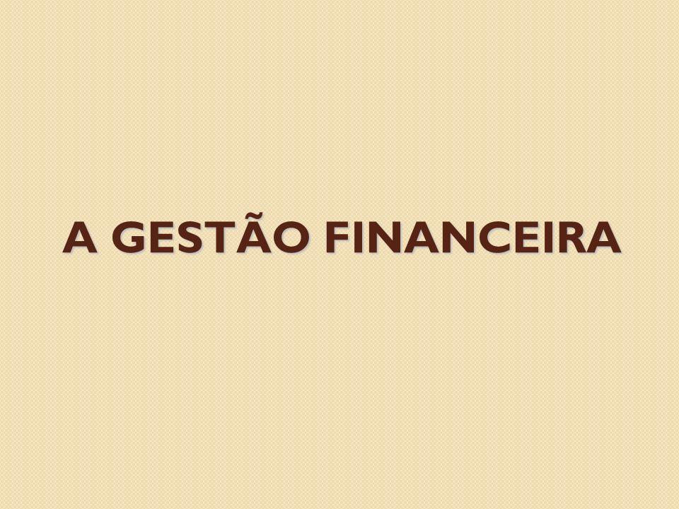 A GESTÃO FINANCEIRA