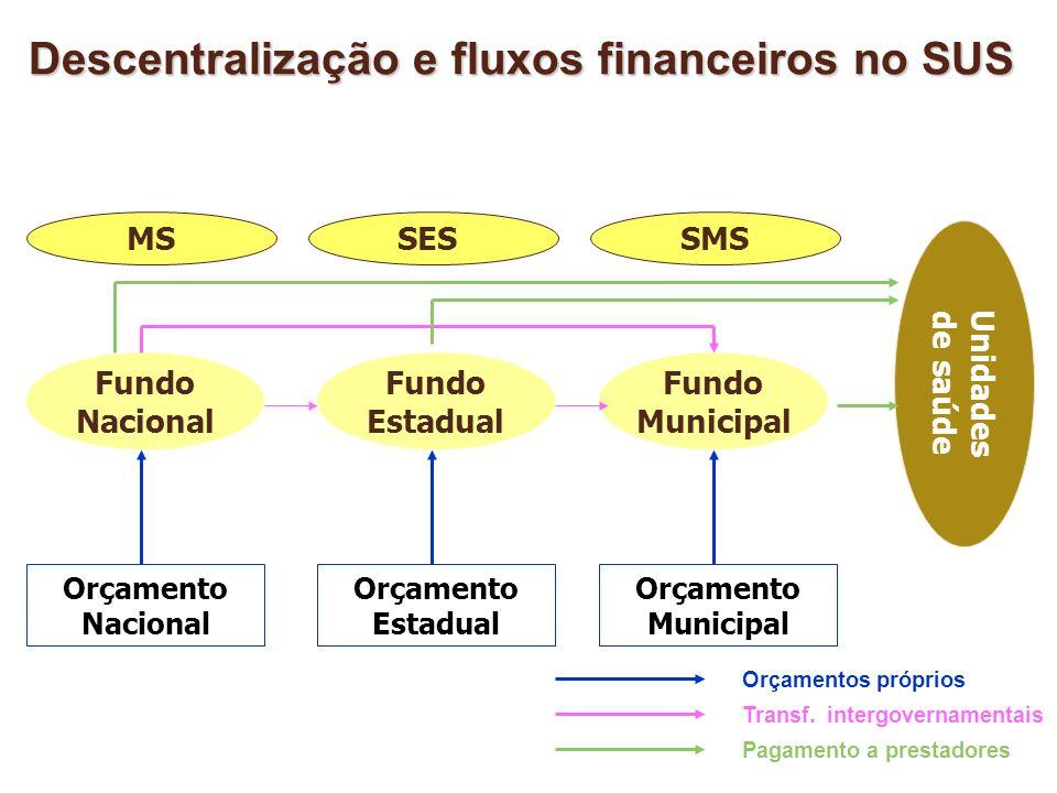 Descentralização e fluxos financeiros no SUS