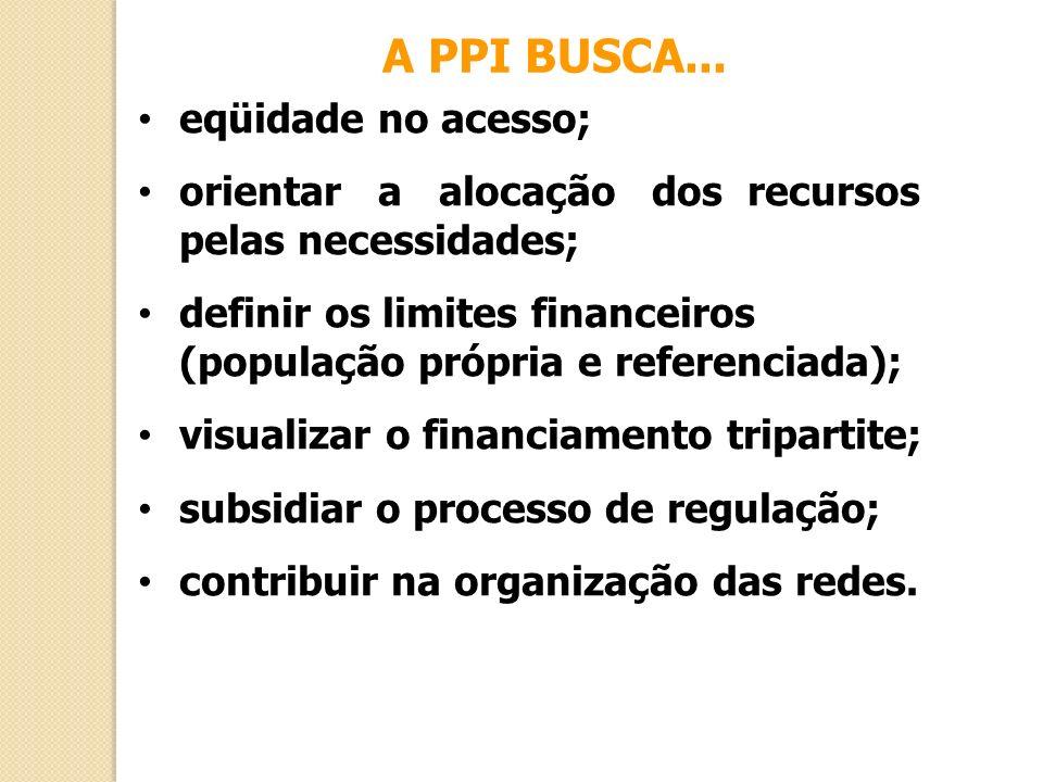 A PPI BUSCA... eqüidade no acesso;