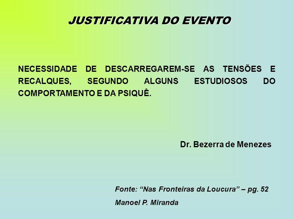 JUSTIFICATIVA DO EVENTO
