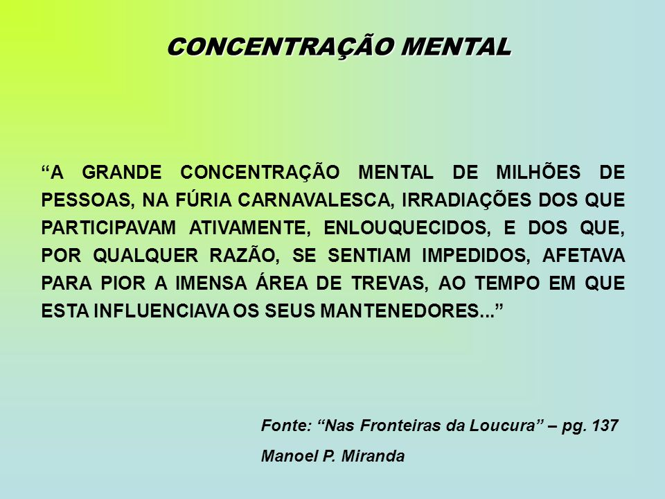 CONCENTRAÇÃO MENTAL