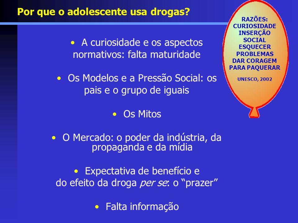 Por que o adolescente usa drogas