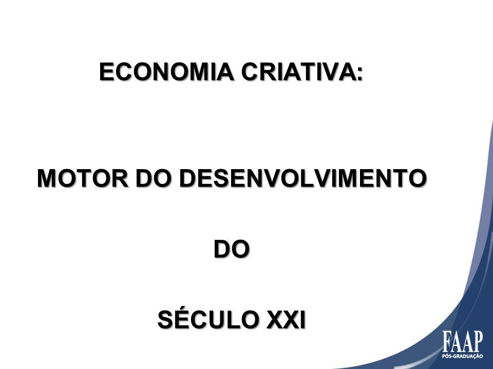 ECONOMIA CRIATIVA: MOTOR DO DESENVOLVIMENTO DO SÉCULO XXI