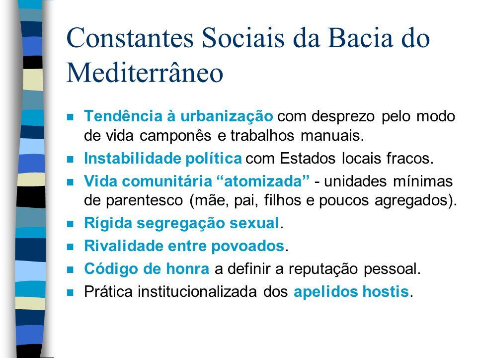 Constantes Sociais da Bacia do Mediterrâneo