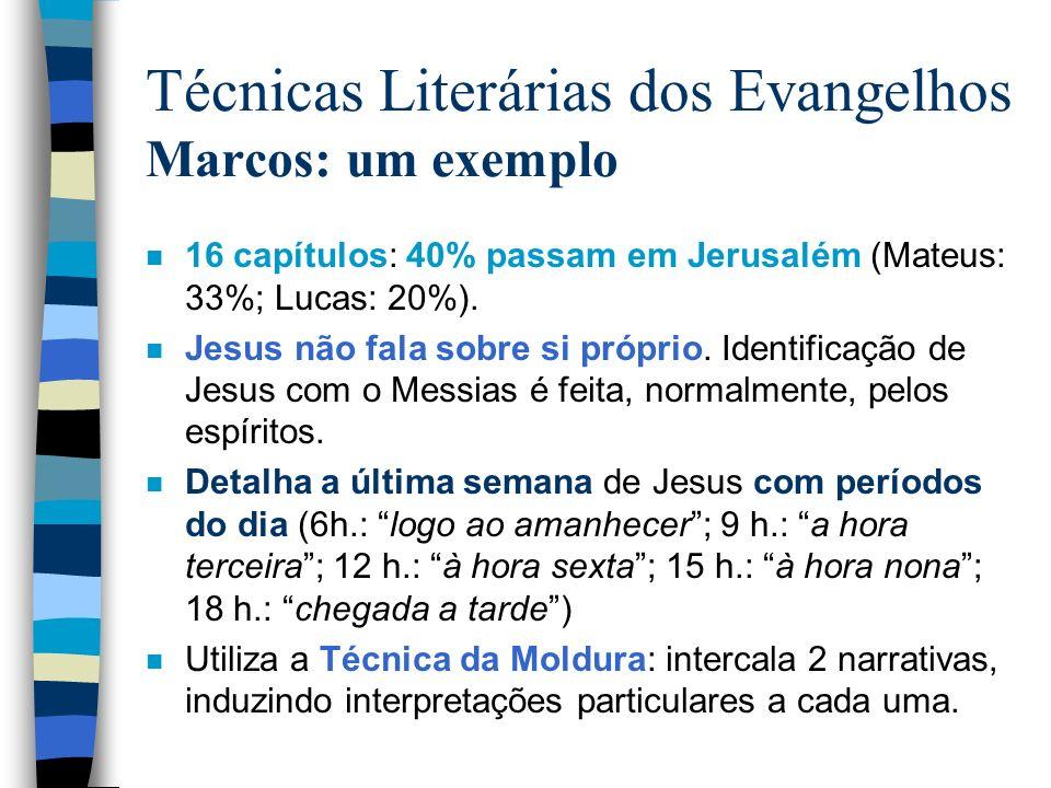 Técnicas Literárias dos Evangelhos Marcos: um exemplo