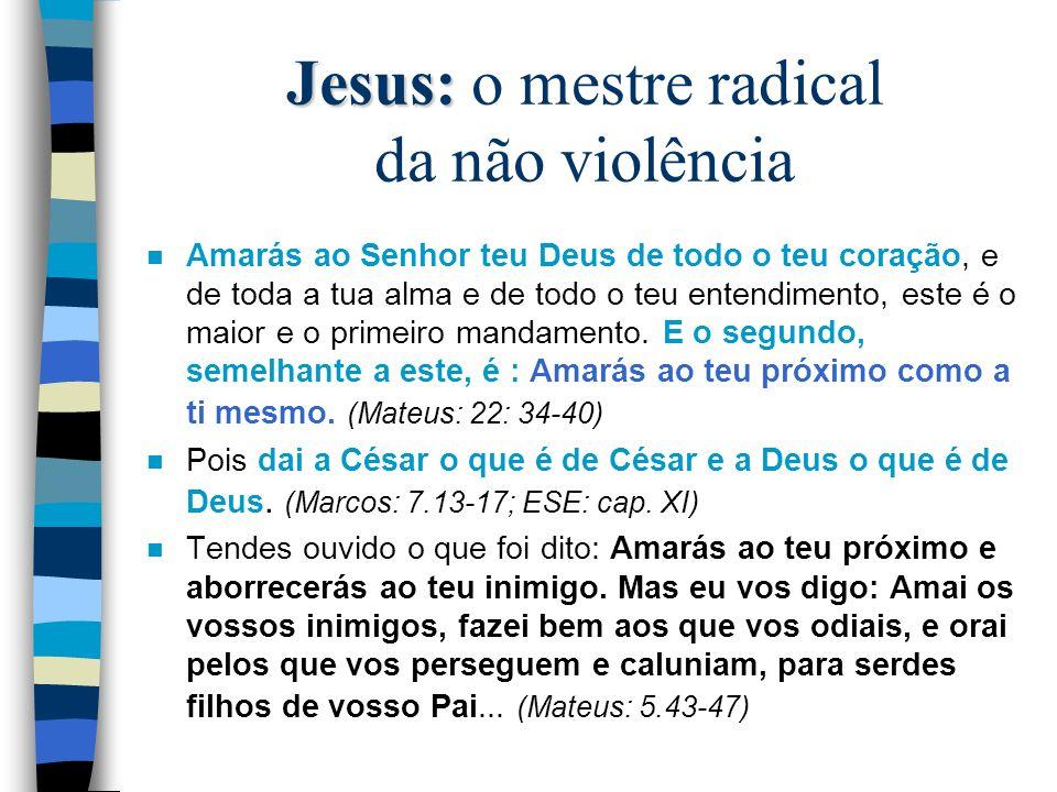 Jesus: o mestre radical da não violência