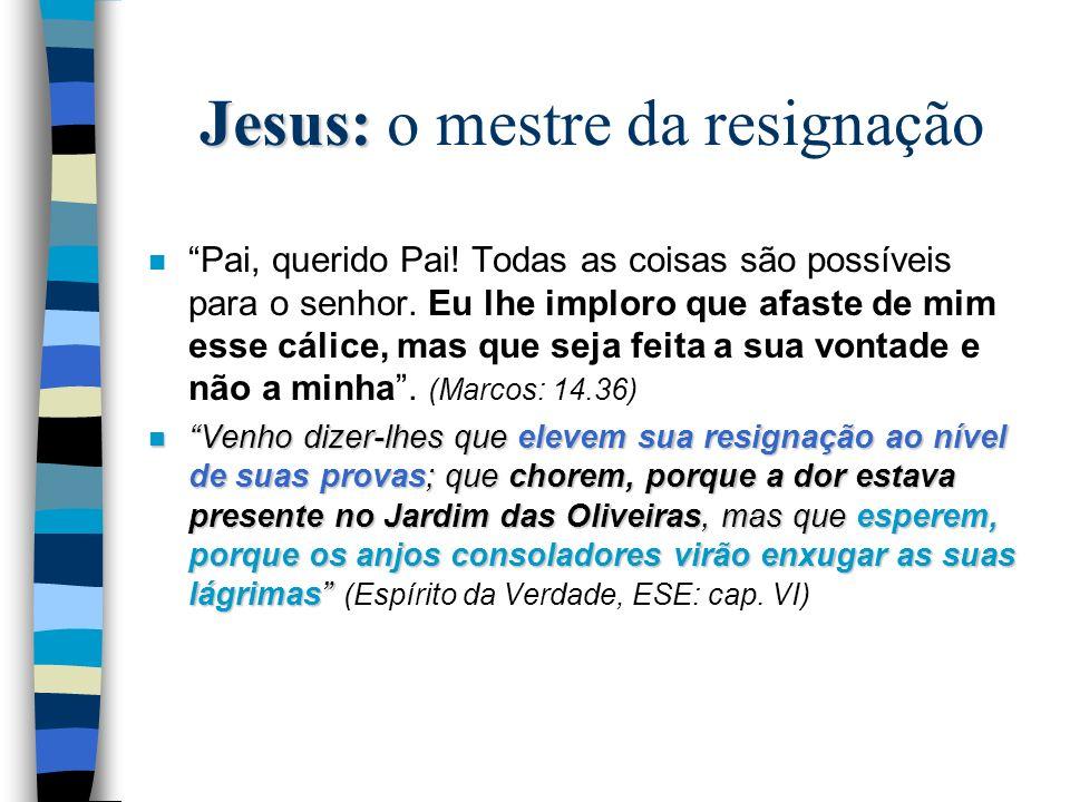 Jesus: o mestre da resignação