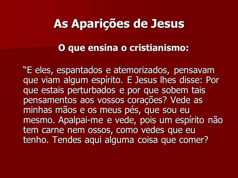 As Aparições de Jesus O que ensina o cristianismo:
