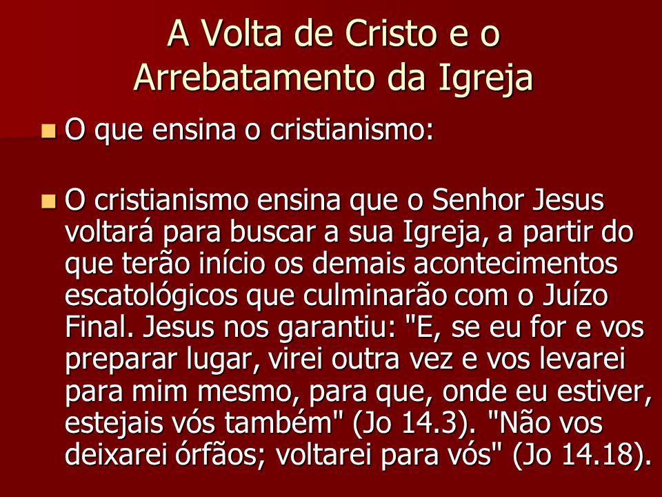 A Volta de Cristo e o Arrebatamento da Igreja