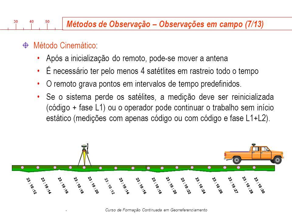 Métodos de Observação – Observações em campo (7/13)