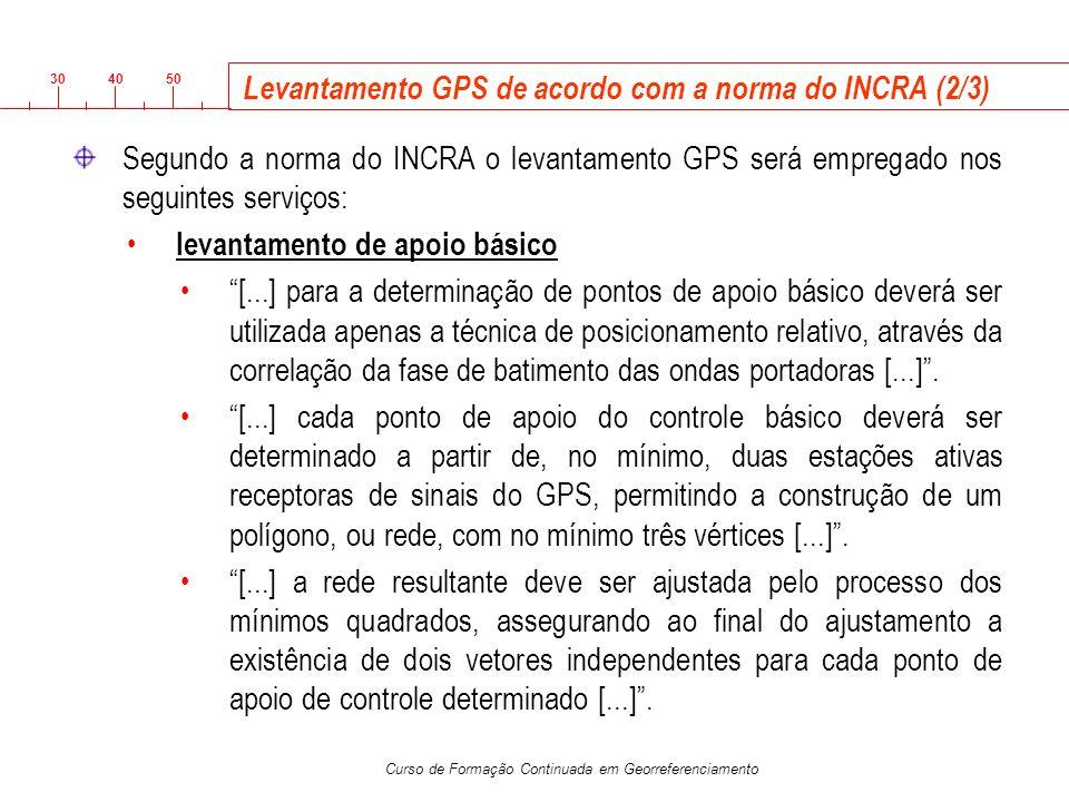 Levantamento GPS de acordo com a norma do INCRA (2/3)
