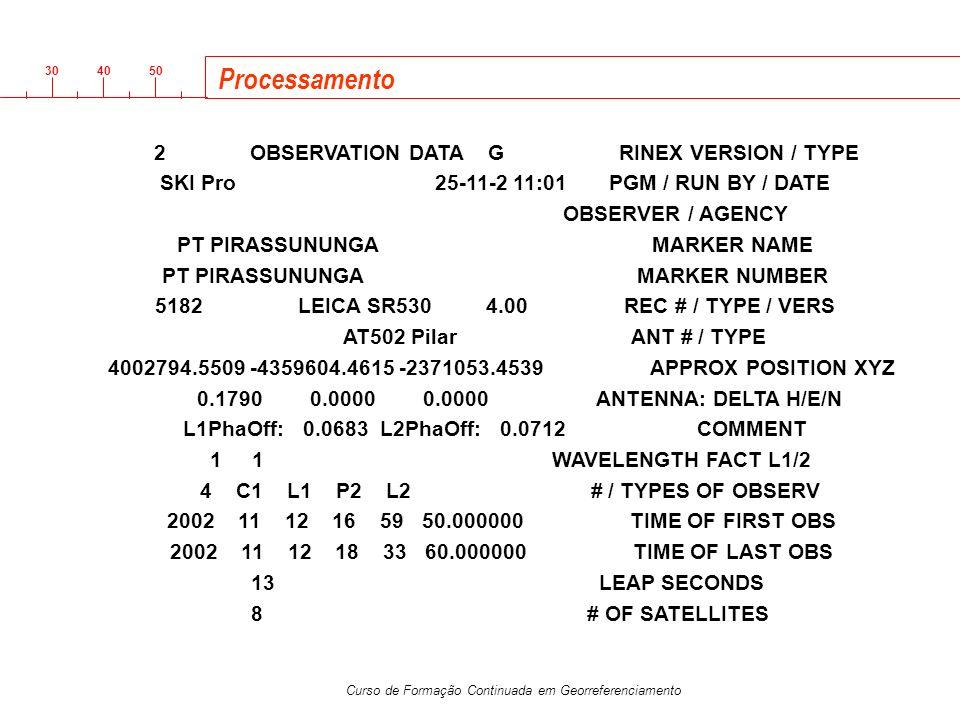 Processamento SKI Pro 25-11-2 11:01 PGM / RUN BY / DATE