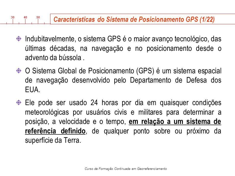 Características do Sistema de Posicionamento GPS (1/22)