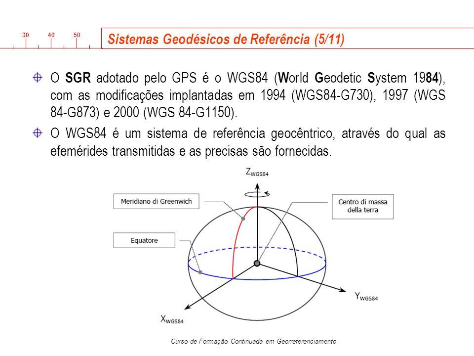 Sistemas Geodésicos de Referência (5/11)