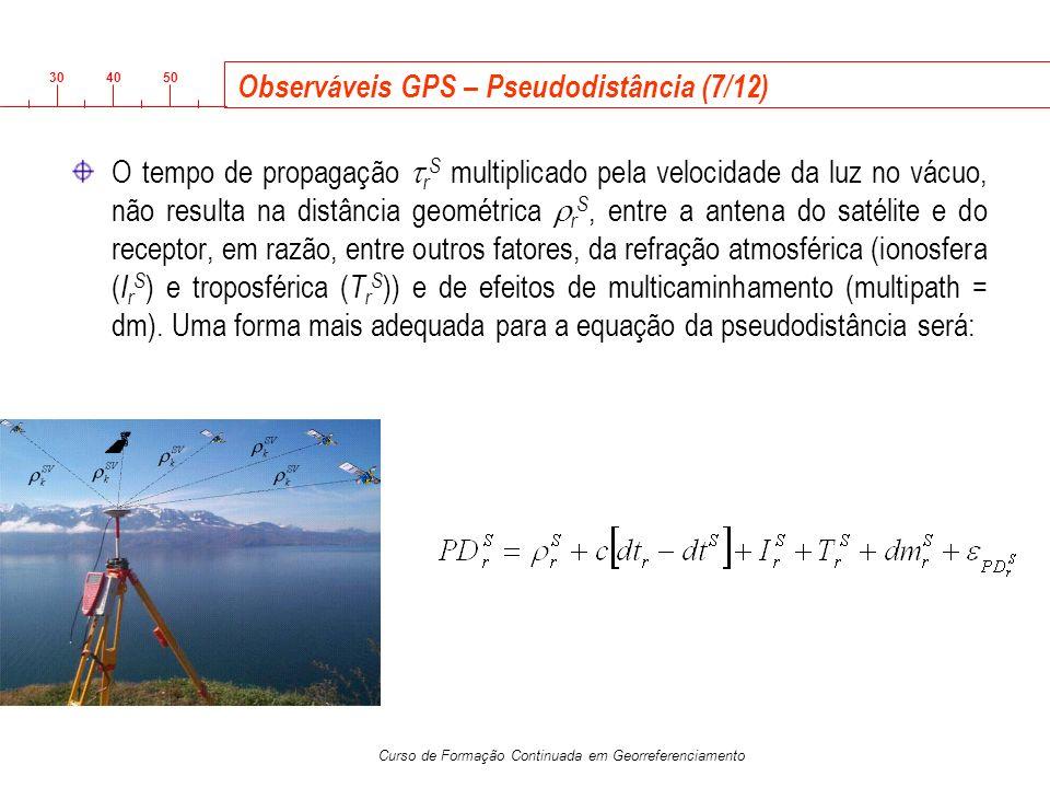 Observáveis GPS – Pseudodistância (7/12)