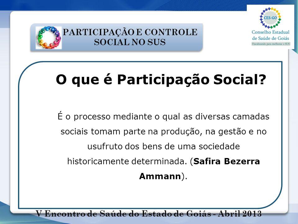 O que é Participação Social