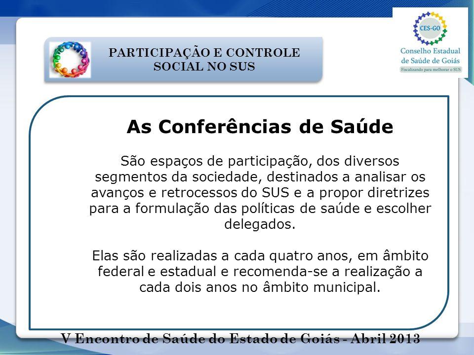 As Conferências de Saúde