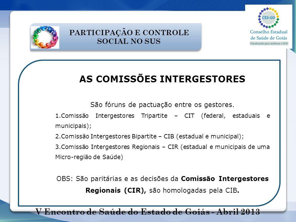 AS COMISSÕES INTERGESTORES