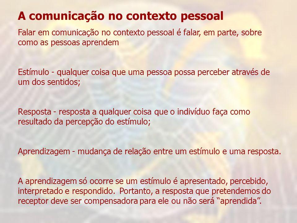 A comunicação no contexto pessoal