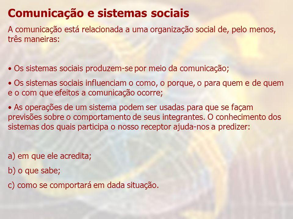 Comunicação e sistemas sociais