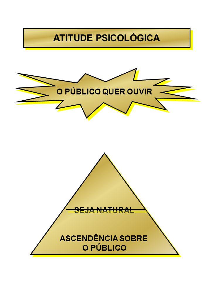 ATITUDE PSICOLÓGICA O PÚBLICO QUER OUVIR SEJA NATURAL