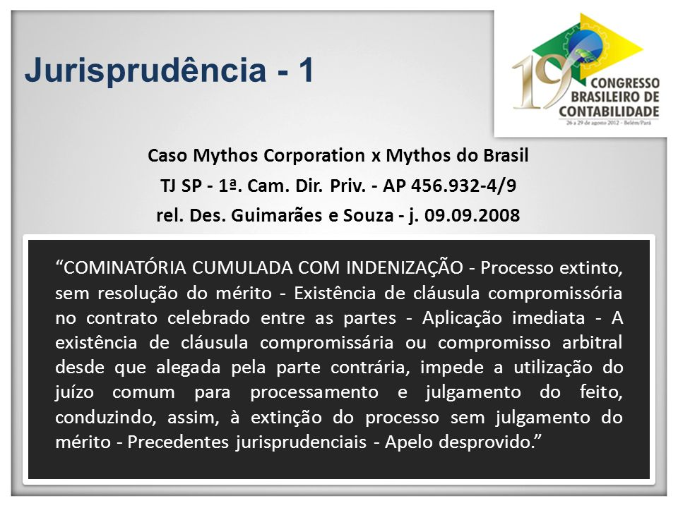 Jurisprudência - 1 Caso Mythos Corporation x Mythos do Brasil