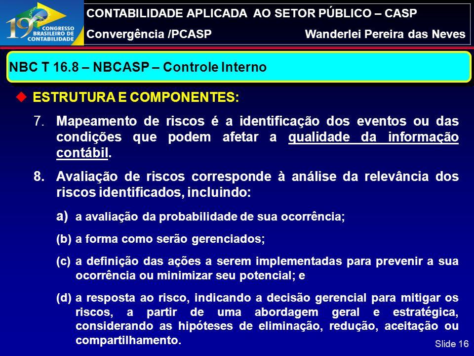 NBC T 16.8 – NBCASP – Controle Interno