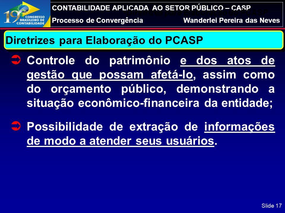 Diretrizes para Elaboração do PCASP