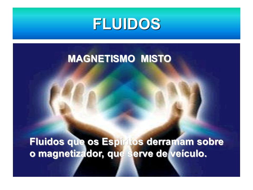 FLUIDOS MAGNETISMO MISTO Fluidos que os Espíritos derramam sobre