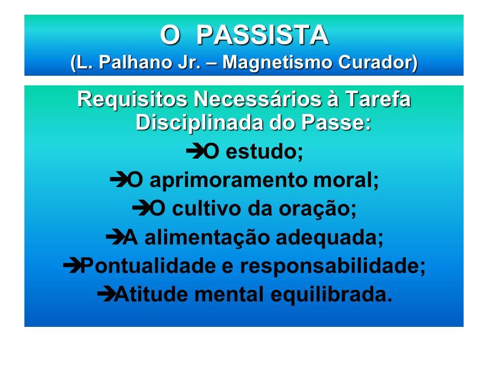 O PASSISTA (L. Palhano Jr. – Magnetismo Curador)