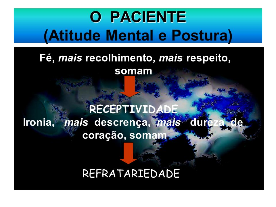 O PACIENTE (Atitude Mental e Postura)