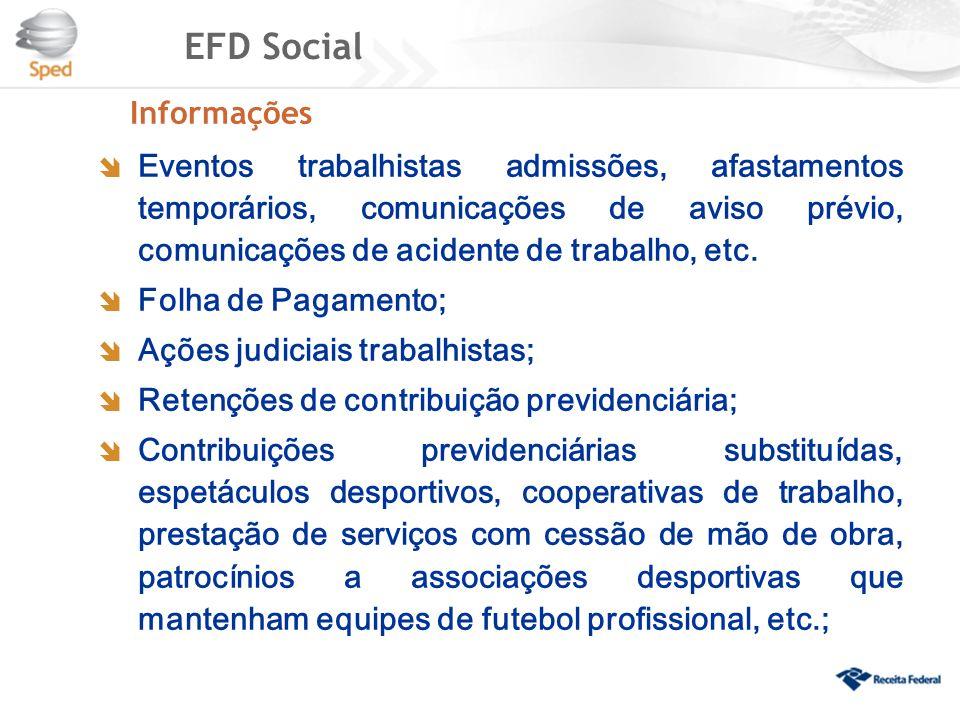 EFD Social Informações