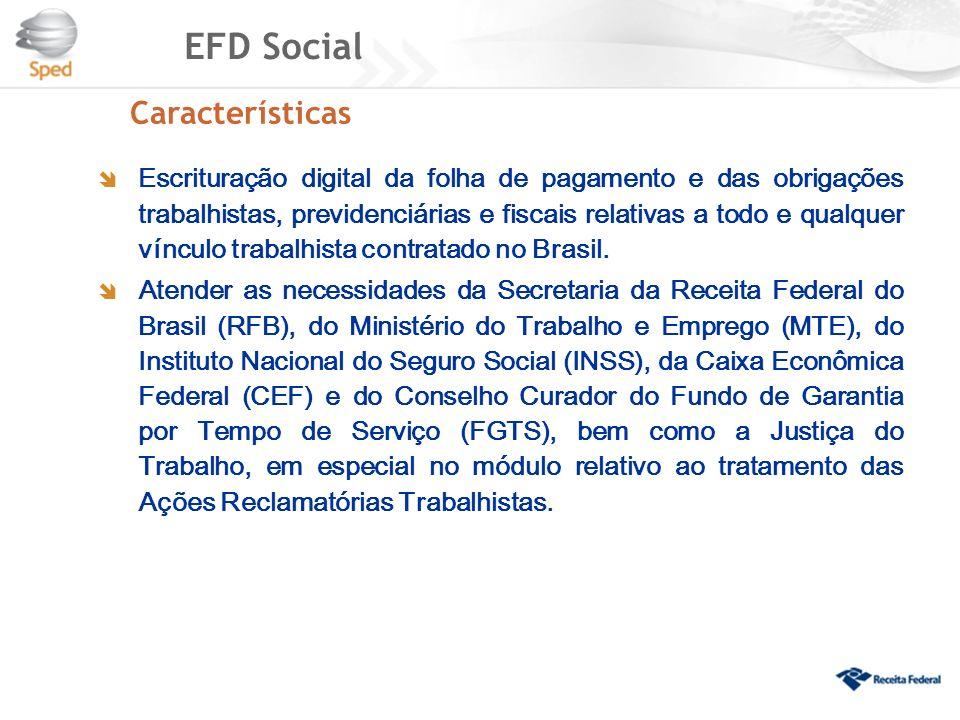 EFD Social Características